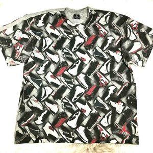 NIKE Air Jordan Shoe Print Graphic Tee T-Shirt